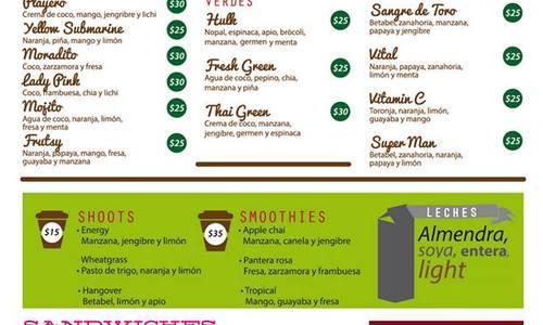 Pitahaya menu